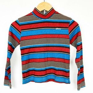 Vintage 80s 90s Guess striped mock t shirt top
